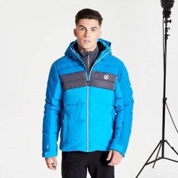 Veste de ski à capuche Homme imperméable et isolante DENOTE Bleu