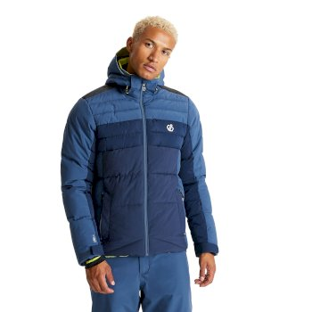 The Jenson Button Edit - Denote Waterproof Insulated Hooded Ski Jacket Dark Denim Nightfall Navy
