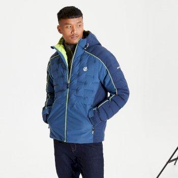 Veste de ski à capuche Homme imperméable et isolante EXPOUNDER Bleu