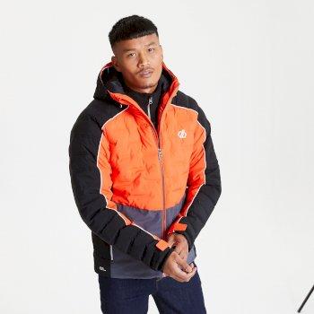 Veste de ski à capuche Homme imperméable et isolante EXPOUNDER Rouge