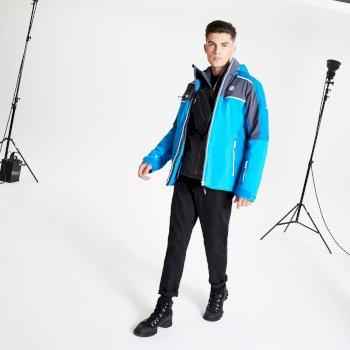 Veste de ski à capuche Homme imperméable et isolante INTERMIT II Bleu
