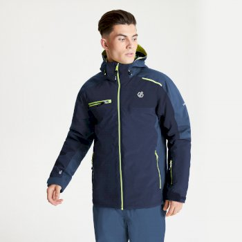 The Jenson Button Edit - Intermit II Waterproof Insulated Hooded Ski Jacket Nightfall Navy Dark Denim