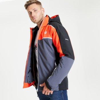 Veste de ski à capuche Homme imperméable et isolante INTERMIT II Rouge