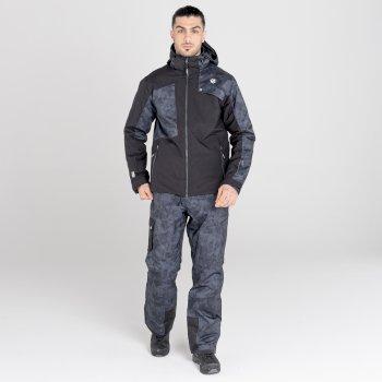 Veste de ski à capuche Homme imperméable et isolante TESTAMENT Noir