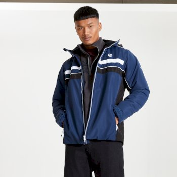 The Jenson Button Edit - Vindicator Waterproof Insulated Hooded Ski Jacket Nightfall Navy Black