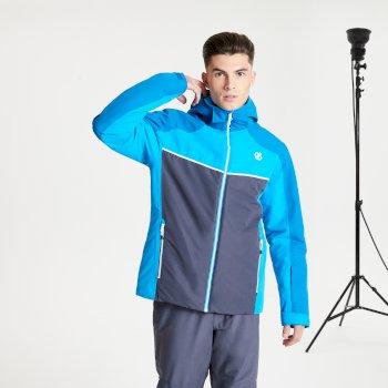 Veste de ski à capuche Homme imperméable et isolante OBSERVE Bleu