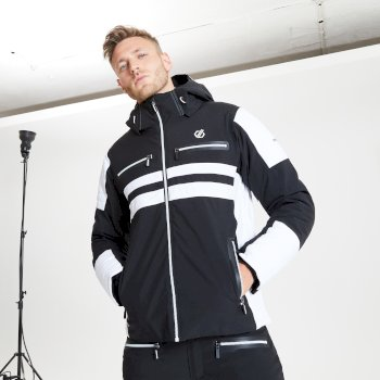 Veste de ski à capuche Homme imperméable et isolante SURGE OUT - Collection Black Label Noir