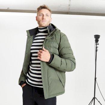 Men's Endless Waterproof Insulated Hooded Jacket Deep Depths Khaki
