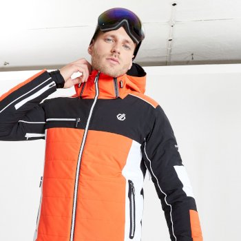 Veste de ski à capuche Homme imperméable et isolante OUT FORCE - Collection Black Label Rouge