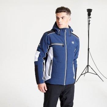 Veste de ski à capuche Homme imperméable et isolante OUT FORCE - Collection Black Label Bleu