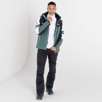 Men's Outlier Recycled Waterproof Ski Jacket Fern Green Black