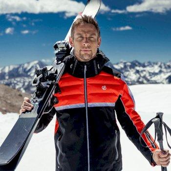 Men's Speed Out Waterproof Ski Jacket Amber Glow Black