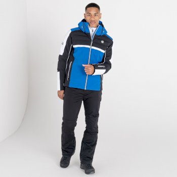 Men's Speed Out Waterproof Ski Jacket Lapis Blue Black