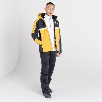 Men's Speed Out Recycled Waterproof Ski Jacket Glowlight Yellow Black