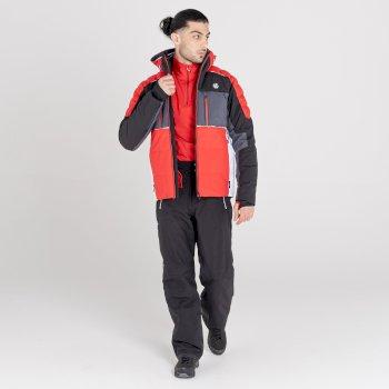 Men's Pivotal Waterproof Ski Jacket Black Ebony Grey
