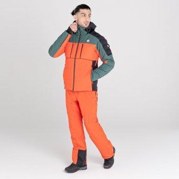 Men's Pivotal Waterproof Ski Jacket Fern Green Black