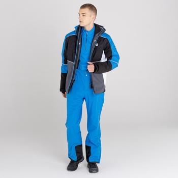 Men's Catch On Waterproof Ski Jacket Athletic Blue Black Ebony Grey