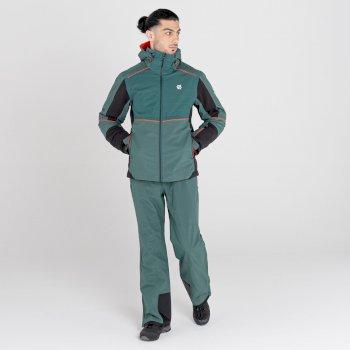 Men's Catch On Waterproof Ski Jacket Fern Green Black