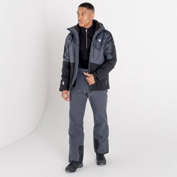 Men's Supernova Waterproof Ski Jacket Black Ebony Grey