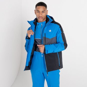 Men's Supernova Waterproof Ski Jacket Athletic Blue Black
