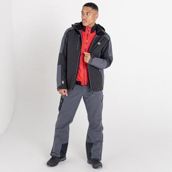 Men's Intermit III Recycled Waterproof Ski Jacket Black Ebony Grey