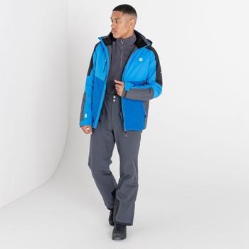 Men's Intermit III Recycled Waterproof Ski Jacket Athletic Blue Black