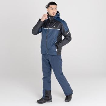 Men's Incarnate Waterproof Ski Jacket Nightfall Navy Black