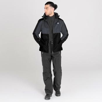 Men's Observe II Waterproof Ski Jacket Ebony Grey Black