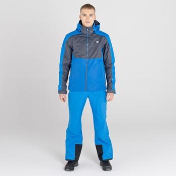 Men's Observe II Waterproof Ski Jacket Athletic Blue Ebony Grey