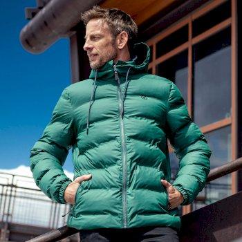 The Jenson Button Edit - Switch Up Waterproof Puffer Jacket Fern Green