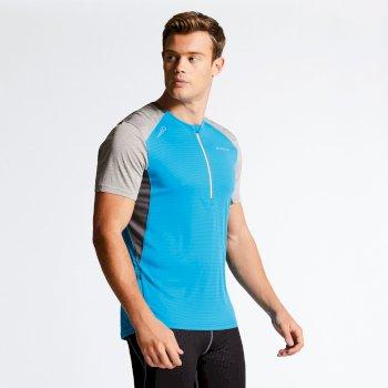 Men s Attest Workout T-Shirt Fluro Blue Ash 44c503538