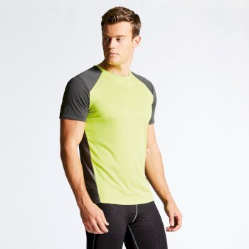 Men s Unified II Technical T-Shirt Lime Punch Charcoal b9327f0f2