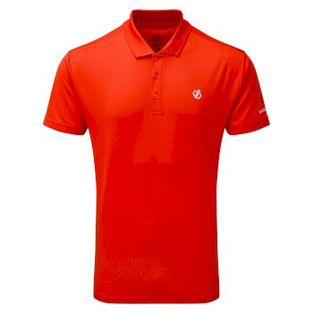 Men's Delineate Lightweight Polo Shirt Trail Blaze Red