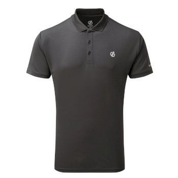 Men's Delineate Lightweight Polo Shirt Ebony Grey