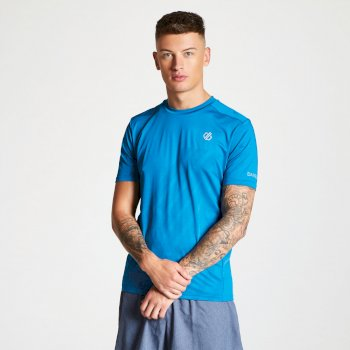 Men's Enjoin Sweat Wicking T-Shirt Petrol Blue