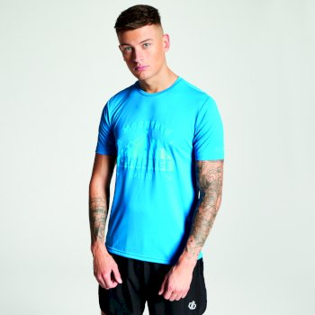 Men's Righteous Lightweight Graphic T-Shirt Petrol Blue