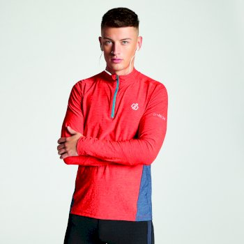 Men's Reacticate Half Zip Active Jersey Fiery Red
