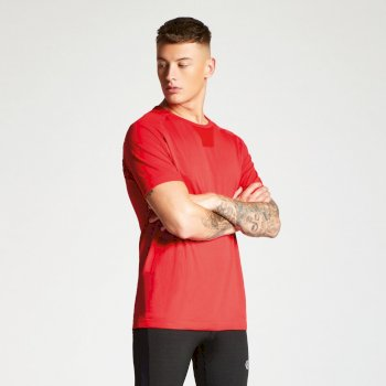 Men's Vessel Seamless T-Shirt Fiery Red