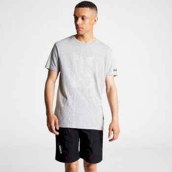 Men's Process Graphic Print T-Shirt Ash