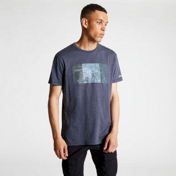 Men's Converge Graphic Print T-Shirt Quarry Blue