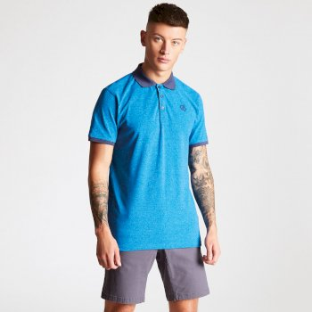 Men's Deference Polo Shirt Petrol Blue