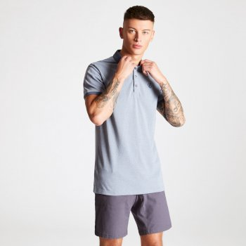 Men's Deference Polo Shirt Gravity Grey