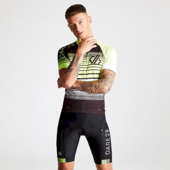 Maillot Velo Aep Homme CLARIFY  Black Fluro Yellow