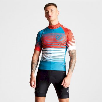 Maillot Velo Aep Homme CLARIFY  Ocean Depths Fiery Red