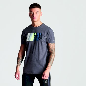 Men's Dynamism Graphic T-Shirt Charcoal Grey