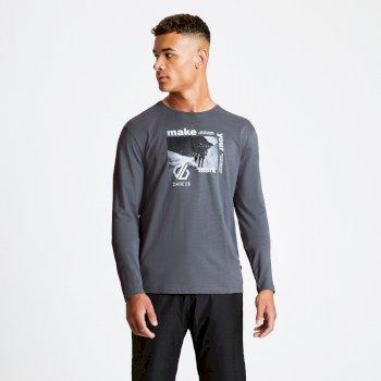 T-shirt lifestyle Homme manches longues INDUSTRY avec imprimé graphique Gris