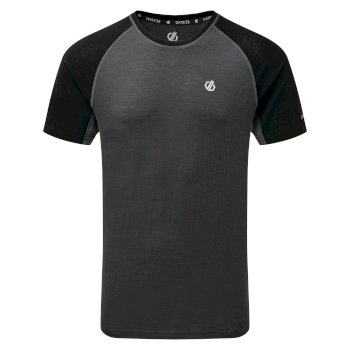 Men's Conflux Wool T-Shirt Ebony Black