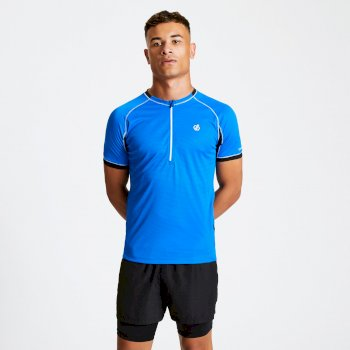 Men's Aces Half Zip Lightweight Cycle Jersey Athletic Blue Black