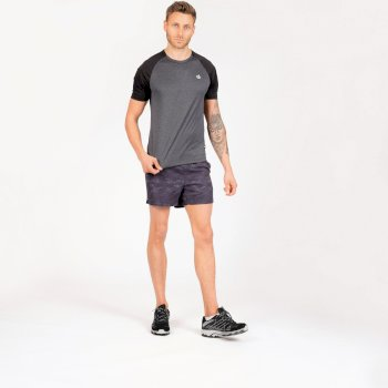Men's Peerless Lightweight T-Shirt Ebony Grey Black
