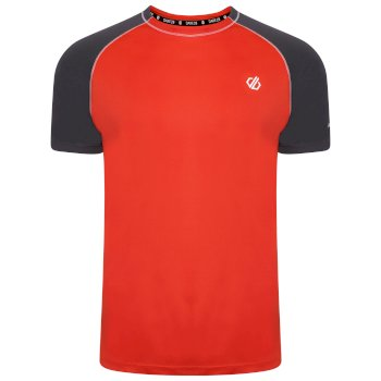 The Jenson Button Edit - Peerless Lightweight T-Shirt Trail Blaze Red Ebony Grey